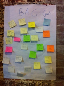 Workshop participants takeaways from the day.