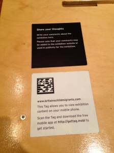 QR Code in exhibit